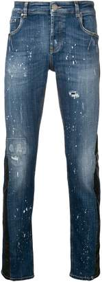 Les Hommes distressed slim fit jeans