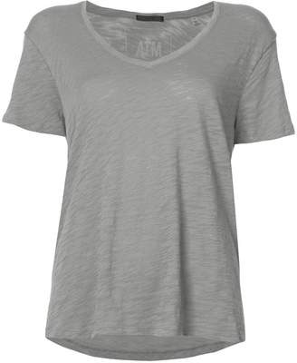 ATM Anthony Thomas Melillo Slub Jersey Boyfriend V-Neck Tee