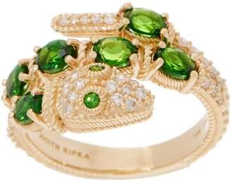 Judith Ripka 14K 1.15 cttw Chrome Diopside & Diamond Snake Ring