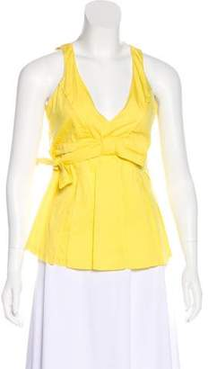 RED Valentino Sleeveless Tie-Accented Top