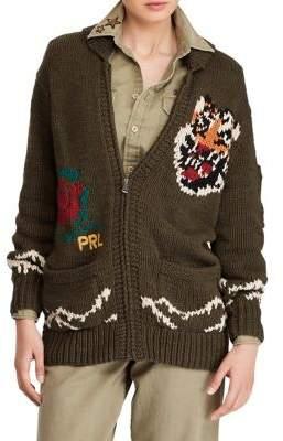 Polo Ralph Lauren Intarsia-Knit Shawl Cardigan