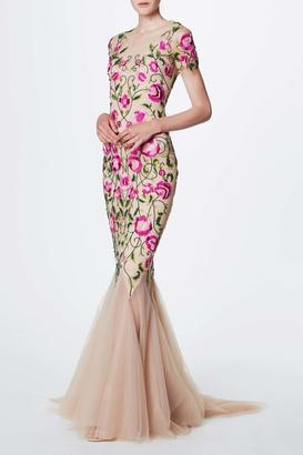 Notte by Marchesa Floral Embroidered Gown $1,295 thestylecure.com