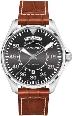 Hamilton Khaki Pilot Automatic Leather Strap Watch, 42mm