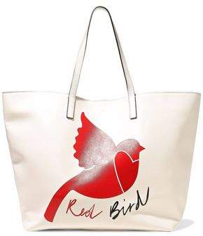 RED Valentino Printed Leather Tote