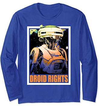 Star Wars Han Solo Movie L3-37 Droid Rights Long Sleeve Tee