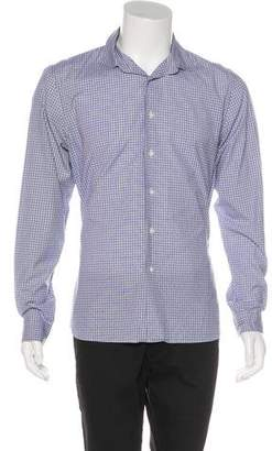 Prada Geometric Print Woven Shirt