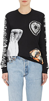 Proenza Schouler Women's Graphic Cotton Long-Sleeve T-Shirt $695 thestylecure.com