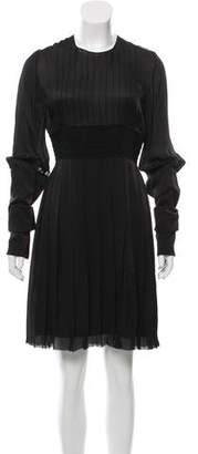 Tess Giberson Pleated Long Sleeve Dress