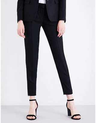 Stella McCartney Vivian tapered wool-piqué trousers