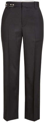Marc Jacobs Cropped Wool Pants with Studded Waistline