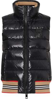 Burberry Icon Stripe Detail Down-filled Puffer Gilet