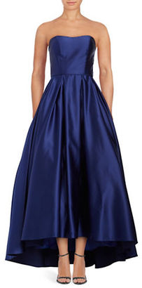 Betsy & Adam Strapless Satin Gown $259 thestylecure.com