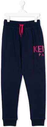 Kenzo Teen drawstring waist track pants