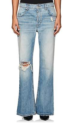 Adaptation Women's Distressed Flared Jeans - Blue