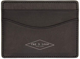 Rag & Bone Black Hampshire Card Holder