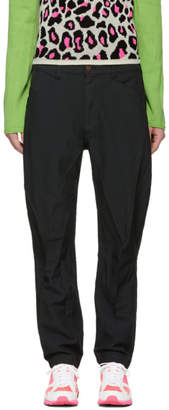 Comme des Garcons Black Twill Rounded Trousers