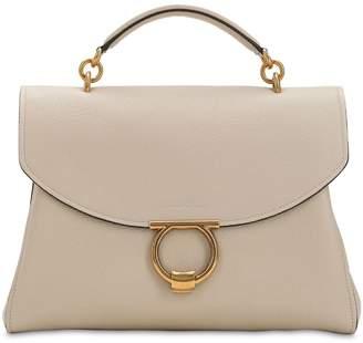 Salvatore Ferragamo Margot Leather Top Handle Bag