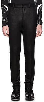 Givenchy Men's Coated Wool Slim Trousers - Navy