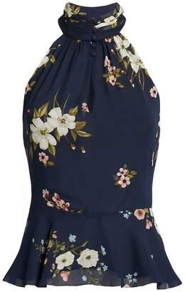 Joie Abbigayl Halter Floral Blouse