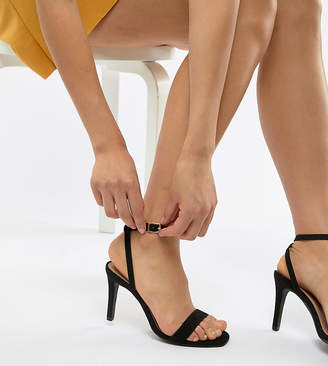 New Look Wide Fit Suedette Heeled Sandal