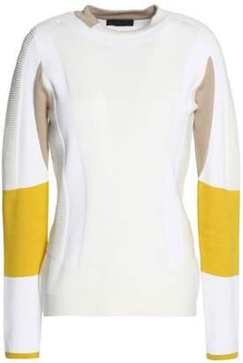 Belstaff Color-Block Cotton-Blend Sweater