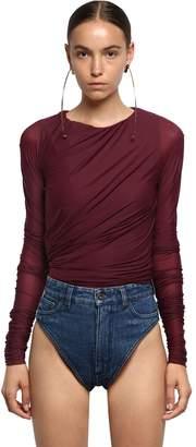 Y/Project Y Project Sheer Lycra & Cotton Jersey Bodysuit