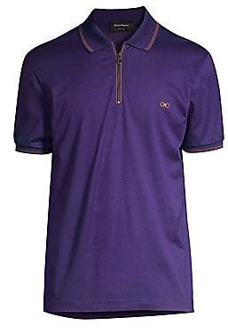 Salvatore Ferragamo Men's Cotton Pique Polo Shirt