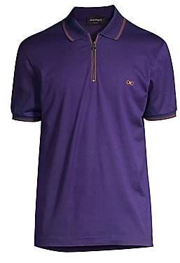 Salvatore Ferragamo Men's Cotton Pique Polo Shirt