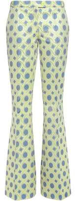 Moschino Cheap & Chic Moschino Cheap And Chic Metallic Cotton-blend Jacquard Flared Pants