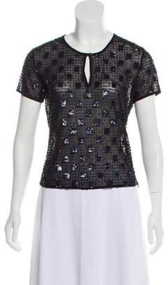 Armani Collezioni Silk Embellished Top
