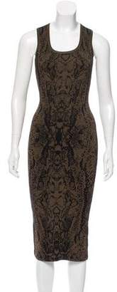 Ronny Kobo Jacquard Knit Bodycon Dress