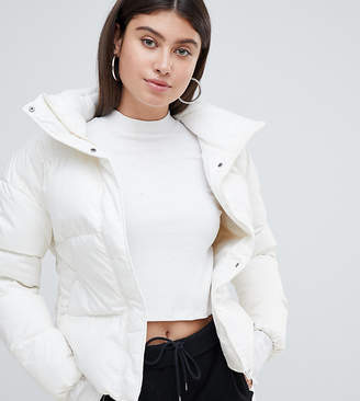 Puma Down Filled Cream Jacket With Hood