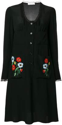Sonia Rykiel embroidered shirt dress