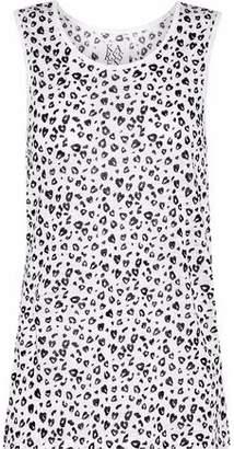 Zoe Karssen Leopard-Print Linen-Jersey Tank