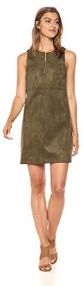 Adrianna Papell Women's Scuba Suede Shift Dress,2