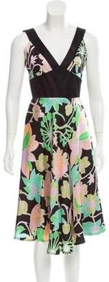 Barbara Tfank Printed Midi Dress