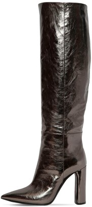 Casadei 100mm Tall Metallic Leather Boots