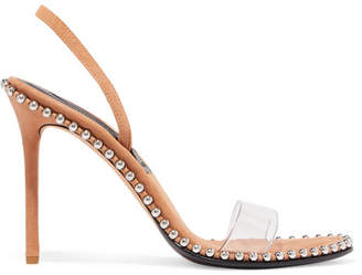 Alexander Wang Nova Studded Leather And Pvc Slingback Sandals - Neutral