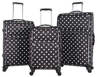 Heritage Luggage Polka Dot 3-Piece Luggage Set
