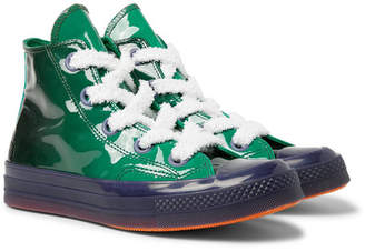 Converse JW Anderson 1970s Chuck Taylor All Star Degrade Patent-Leather High-Top Sneakers - Green