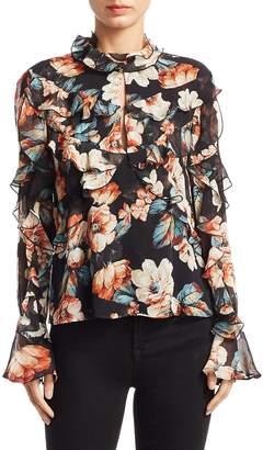 Nicholas Women's Lola Ruffled Silk Top