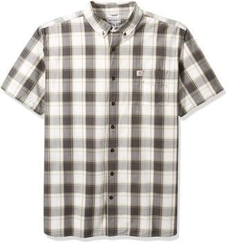 Carhartt Men's Big Essential Plaid Button Down Collar SS Shirt