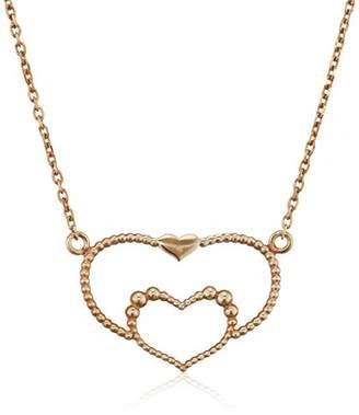 Assya Gold Heart Necklace of Length 22cm