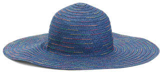 Rainbow Thread Floppy Straw Sun Hat