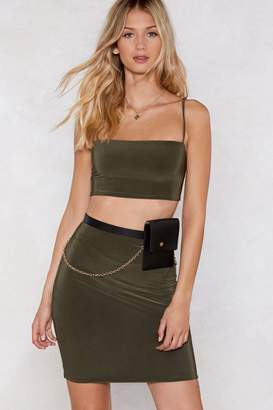 Nasty Gal Take Two Crop Top and Skirt Set