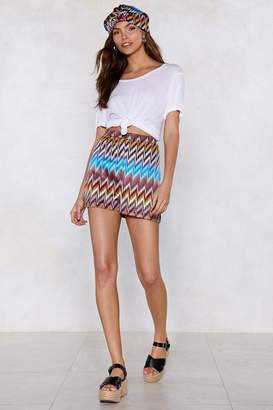 Nasty Gal Heading in Our Direction Chevron Shorts