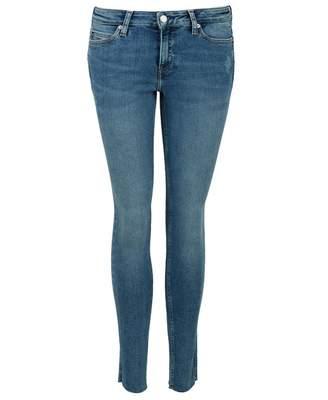 Calvin Klein Jeans Super Skinny Split Hem Jeans Colour: BLUE, Size: 25