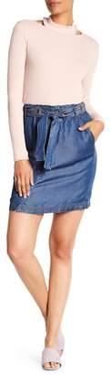 Splendid Snap Button Paperbag Waist Skirt