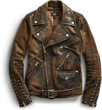 Ralph Lauren Studded Leather Moto Jacket