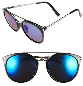 Women's Bp. 55Mm Mirrored Sunglasses - Black/ Blue $12 thestylecure.com